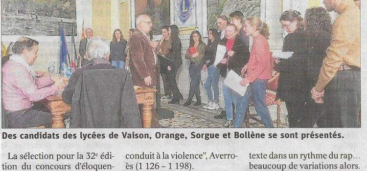 07/02/2020 – Concours d'éloquence
