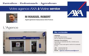 AXA - Partenaire Lions Club de Vaison la Romaine