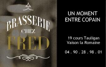 Brasserie chez Fred - Partenaire Lions Club de Vaison la Romaine