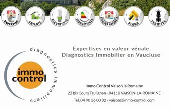 Immo Control - Partenaire Lions Club de Vaison la Romaine