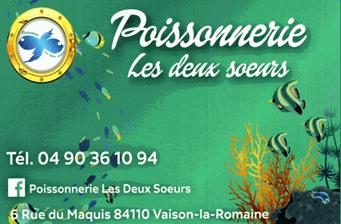 Poissonnerie Les deux soeurs - Partenaire Lions Club de Vaison la Romaine
