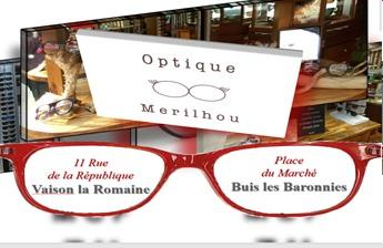 Optique Merilhou - Partenaire Lions Club de Vaison la Romaine