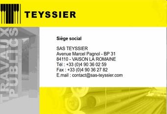 TEYSSIER - Partenaire Lions Club de Vaison la Romaine